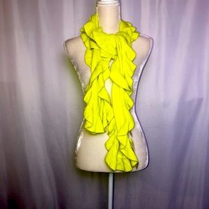 New Collection Eighteen Lime Ruffled Scarf